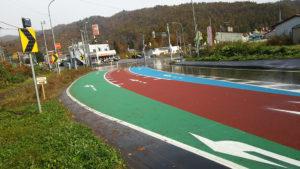 道路用カラー舗装工